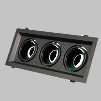 Triple black BG anti-glare frame MR16